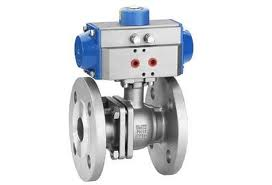 2PC Stainless Steel Pneumatic Ball Valve: PTFE Flanged