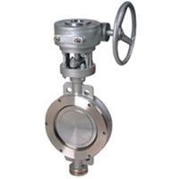 Hard seal butterfly valve,wafer type,flanged joint,ASME B16.10
